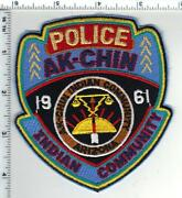 Ak-chin Indian Community Police Arizona 1st Issue Shoulder Patch