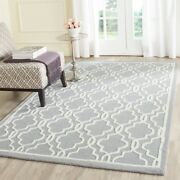 Safavieh Cambridge Silver / Ivory Wool Area Rug 11and039 6 X 16and039 - Cam131d-1216