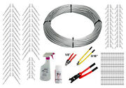 Full Surface Mount Cable Railing Kit - 1000ft Cable 3/16 End Fittings And Tools