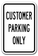 Lot Of 10 Customer Parking Only Sign 12 X 18 Heavy Gauge Aluminum Signs