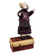 19th Century Wind Up Automaton Doll, Continental, Moves Arms, Head And Body