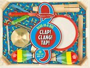 Melissa And Doug Band In A Box Clap Clang Tap 10 Piece Musical Instrument Set