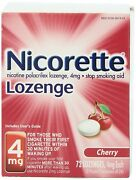 Brand New Factory Sealed Nicorette Lozenge Cherry 4mg 72ct Collectible Only