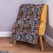 Northern Soul Patches Design Soft Fleece Throw Blanket