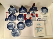 10 Bing And Grondahl Bandg Christmas In America Plates 86-95 87 Ornament Book Coc
