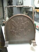 Arts And Crafts Wrought Iron Mission Magazine Stand Spanish Revival Nice