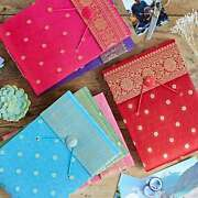 Sari Fabric Cover Photo Album 6 Colours 30 Pages To Fit 120 6x4 Or 60 7x5 Photos