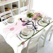Bicycle Basket 3d Tablecloth Table Cover Cloth Rectangle Wedding Party Banquet