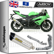 Arrow Full Exhaust System Racetech Carby Cup Hom Kawasaki Zx-6r 2013 13 2014 14