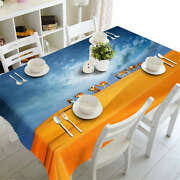 Endless Desert 3d Tablecloth Table Cover Cloth Rectangle Wedding Party Banquet