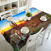 Lovely Cactus 3d Tablecloth Table Cover Cloth Rectangle Wedding Party Banquet