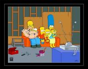 Homer Spider-pig Pet Bart Lisa Marge Maggie The Simpsons Couch Gag Pix-cel Art