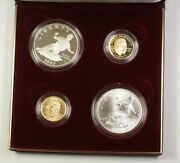 1997 Us Jackie Robinson Commemorative Gold And Silver Proof Set 4 Coins Total Jah