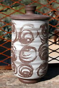VINTAGE STUDIO POTTERY LORENE AND RALPH SPENCER COVERED JAR 7 INCHES TALL WA