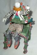 """JUDIE BOMBERGER """"Jonah"""" Jointed 3-Dimensional 10-Inch Table Sculpture FREE SHIP"""