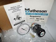 New In Box Matheson 3491-a Gas Regulator 350 Psi Inlet Pressure