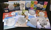 Canada 20 For 20 .9999 Fine Silver - 14 Different Coin 2011-2014 With Coa's