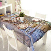 White Clean Feel 3d Tablecloth Table Cover Cloth Rectangle Wedding Party Banquet