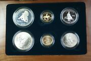 1995 Civil War Battlefield Gold Silver And Clad 6 Coin Proof And Unc Set In Ogp Jah