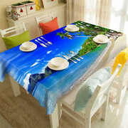 Holiday Resort 3d Tablecloth Table Cover Cloth Rectangle Wedding Party Banquet