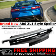 For 16 17 18 Chevrolet Camaro Zl1 Factory Style Spoiler Rear Trunk Lid Abs Black