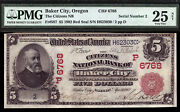 5 1902 Red Seal Citizens National Bank Of Baker City Oregon Ch 6768 Tough Note