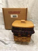 New Longaberger 1998 Fathers Day Finders Keepersbasket Combo Protector Liner Li