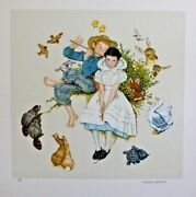 Norman Rockwell - Four Ages Of Love Spring - Signed And Numbered - Coa