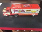 Vintage Gold Star Transfer 1950andrsquos Tin Litho Horse Trailer Truck Marx Msc2