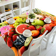 Fruit Platter 3d Tablecloth Table Cover Cloth Rectangle Wedding Party Banquet