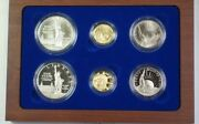 1986 Statue Of Liberty Ellis Island Com Proof And Unc 6 Coin Silver And Gold Set Jah