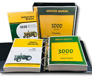 Service Operators Parts Manual Set For John Deere 3020 Tractor Sn Up To 123,000