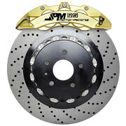 Jpm Forged Rs Brake 6pot Anodized Gold 15 Drill Disc For E90 E92 M3