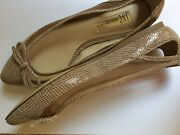 Perfect Condition Inc Size 7 Womens Brown Pointed Leather Flats