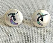 Rancho Alegre Taxco Mexico Sterling Mother Of Pearl Cufflinks