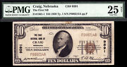 10 1929 T1 First National Bank Of Craig, Nebraska Ch 9591 Only 4 Large 11 Small