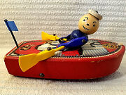 Vintage Fisher Price Racing Rowboat 730 Pull Toy Collectible Very Rare