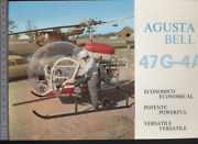 192 Brochure Hélicoptère Aircraft Helicopter Agusta Bell 47g-4a