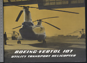 192 Brochure Hélicoptère Aircraft Helicopter Boeing Vertol 107
