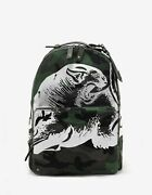 New Valentino Garavani Green Camo Panther Print Backpack Rrp Andpound1310