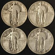 1926 1927 Nice 1928 And 1929-s Standing Liberty Quarters - Free Shipping Usa