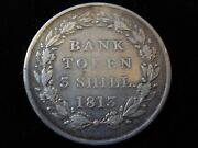 Great Britain 1813 3 Shillings Bank Token Sterling Silver Bb1