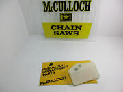 New Genuine Mcculloch Chainsaw Pro Mac 1000 Air Filter Or Partner P100 Chainsaw.