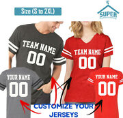 Customize Couple Jerseys Tees Shirts Front Back Team And Your Name Number Create