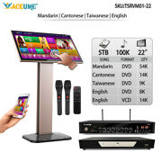 5tb Hdd 100k Chinese+english Songs,touch Screen Karaoke Player, Cloud Download