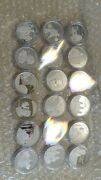 24pc Niue Cook Islands Mongolia History Of Asia Silver Coin Set ,all Different