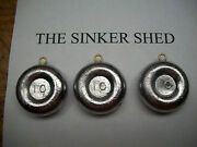 10 Oz River Coin Sinkers / Decoy Weight - Choice 6/12/25/50/100 - Free Shipping