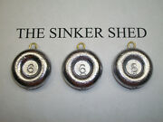 6oz River Coin Sinkers / Decoy Weight - Quantity Of 6/12/25/50/100 Free Shipping