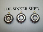 5 Oz River Coin Sinkers / Decoy Weight - Quantity Of 6/12/25/50/100 Free Shippin