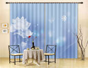 Dreamy White Flowers 3d Curtain Blockout Photo Printing Curtains Drape Fabric